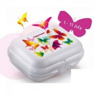 Tupperware Butterfly Collection Oyster Medium