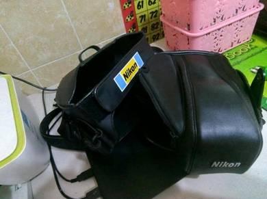 Nikon Leather Camera Case CF-43 + Nikon Single -le