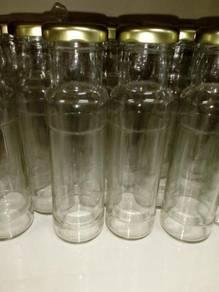 Botol kaca 180ml dengan lug cap