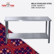 Meja Stainless Steel Kukuh (Welding) 3.5ft x 2ft