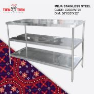 Meja Stainless Steel Kukuh 3ft x 1.5ft