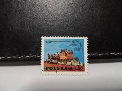 1974 Poland Stamp Postal Service Stagecoach