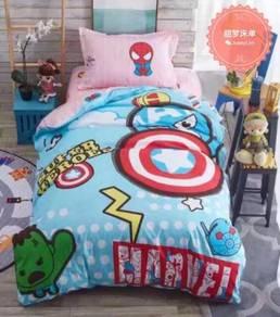 4in1 with Comforter Super Single Cartoon Bedsheet