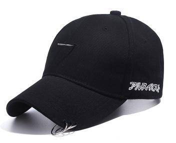 C043 Black Plain Ring Buckle Hip-Hop Baseball Cap