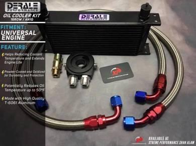Engine oil cooler kit derale 16 row an10 hose set