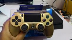 Gold ds4 ps4 controller