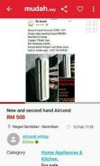 Second hand aircond