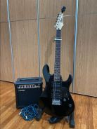 Electric Guitar + Amplifier and Accesories
