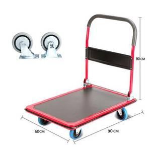 Folding Push Cart Heavy Duty 600KG 4-Wheel