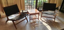 Teak Wood Designer Lounge Chair Set