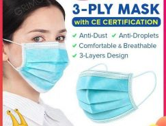 10PCS3 PLY Mask Face Anti Dust Disposable Surgical