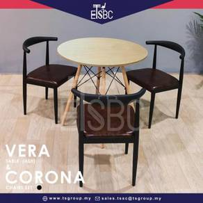 Vera table 80cm + 3 corona chairs
