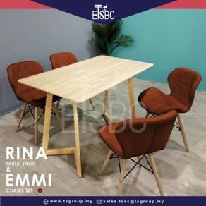 Rina table (120x70 cm ) + 4 emmi chairs
