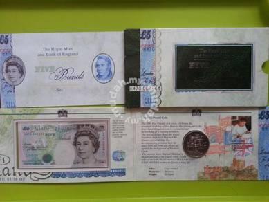 United Kingdom Commemorative Note with Folder UNC