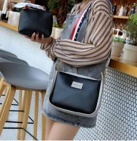 2in1 black slingbag