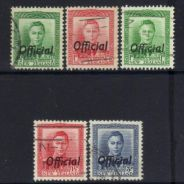 New zealand 1938 kgvi official 5 used bl271