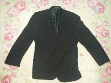 Mens coat and uniqlo black fannel shirt