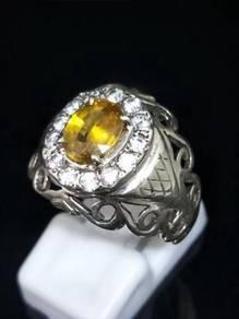 Cincin Nilam Ceylon Kuning