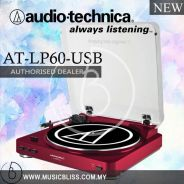Audio-Technica AT-LP60-USB Turntable (Red)