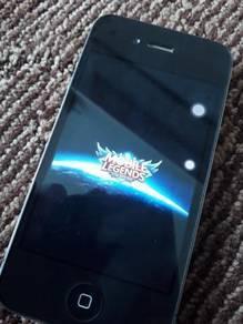 Iphone 4 original with digital clock