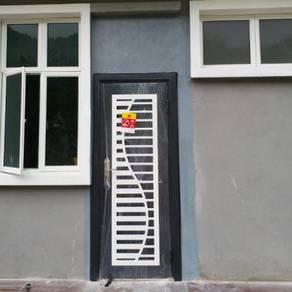 ART DESIGN WROUGHT IRON SECURITY DOOR-3'x7'
