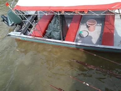 Boat Motor Bot Perahu Sampan Bot Fibre
