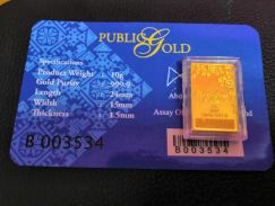 10g bungamas public gold emas 999.9