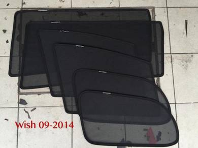 Toyota wish 2009-2014 sun shade with magnet 6 pcs