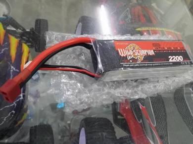 Wild Scorpion 11.1v 2200mah 30c 3s Lipo Dean