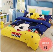 5in1 with Comforter Mickey Cartoon Bed sheet