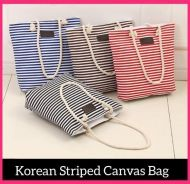 Korean' Striped Canvas Bag (9)