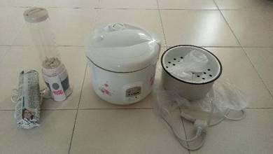 Periuk Nasi/Rice Cooker dan Blander Shake n Take