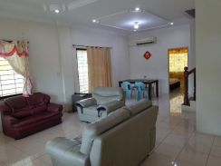 House corner for rent. Partial furnished