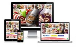 Food menu webpage - demo your products online