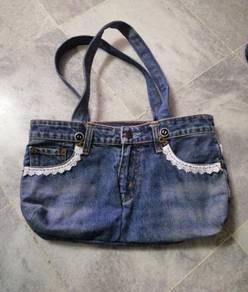 Homemade Denim Handbag.