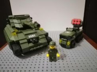 Army Police Force Building blocks like lego