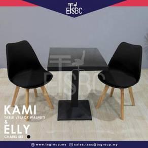 Kami table (60cm ) + 2 elly chair