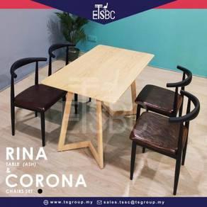 Rina table (120x70 cm ) + 4 corona chairs