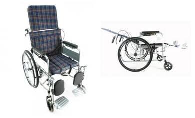 Oku Kerusi roda tidur reclining wheelchair commode