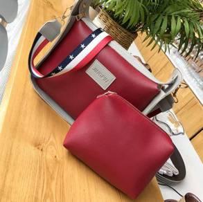 2in1 red set slingbag