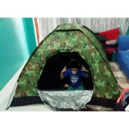 Camo army camping tent / khemah 06