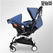 BLUE Baby Throne UPGRADED Stroller + Carrier