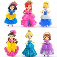 Changeable Dress 6 Pretty Princess PVC Figure Cake