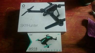 SKYHunter x8 and JY018 pocket drone