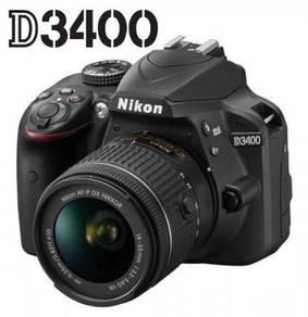 NEW Nikon D3400 DSLR with AFP 18-55mm VR Lens