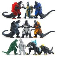 10pcs Ultraman Monster Godzilla PVC Figure