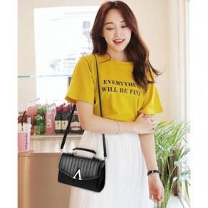 Korea style V sling bag