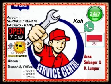 Servis Repair Aircon Baiki Service Aircond Wiring