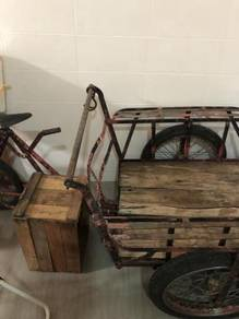 Antique vintage tricycle for goods