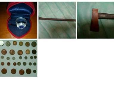Syiling & kapak lama. cicin perak(baru terpakai)